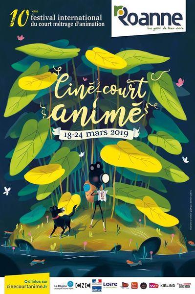 Affiche Ciné-court animé 2019 ©Clément Lefèvre