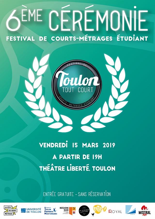 Affiche 2019 de la 6e édition ©Festival Toulon Tout Court