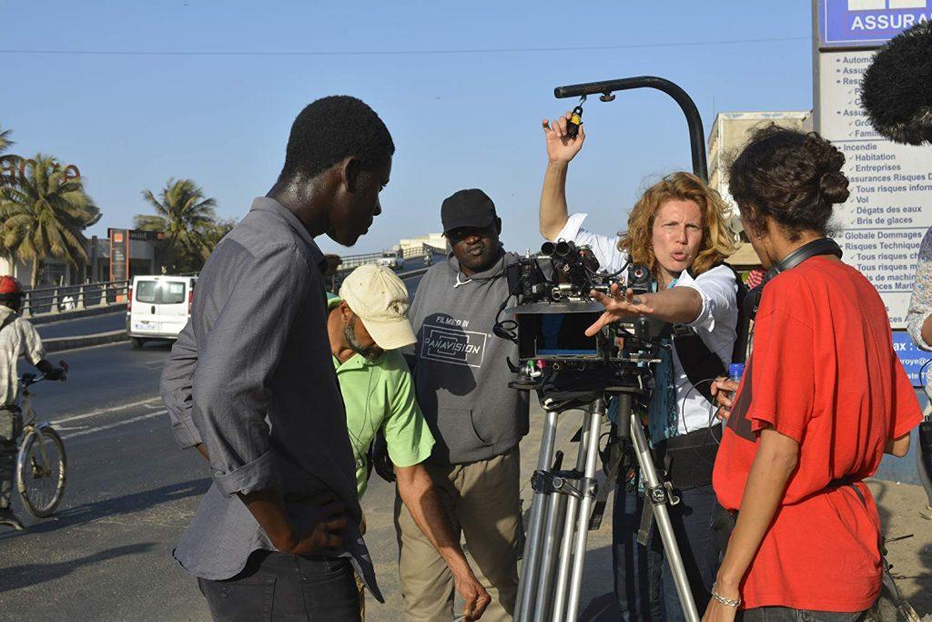 Claire Mathon sur le tournage d'Atlantique - ©DR
