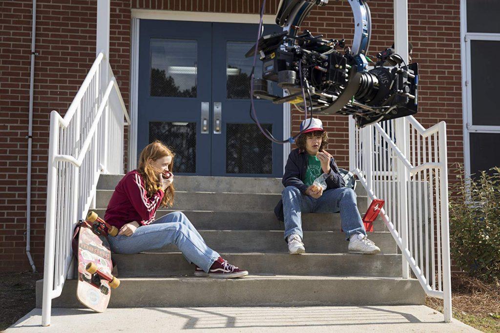 Sadie Sink et Gaten Matarazzo - Stranger Things - ©Jackson Lee Davis / Netflix 2016